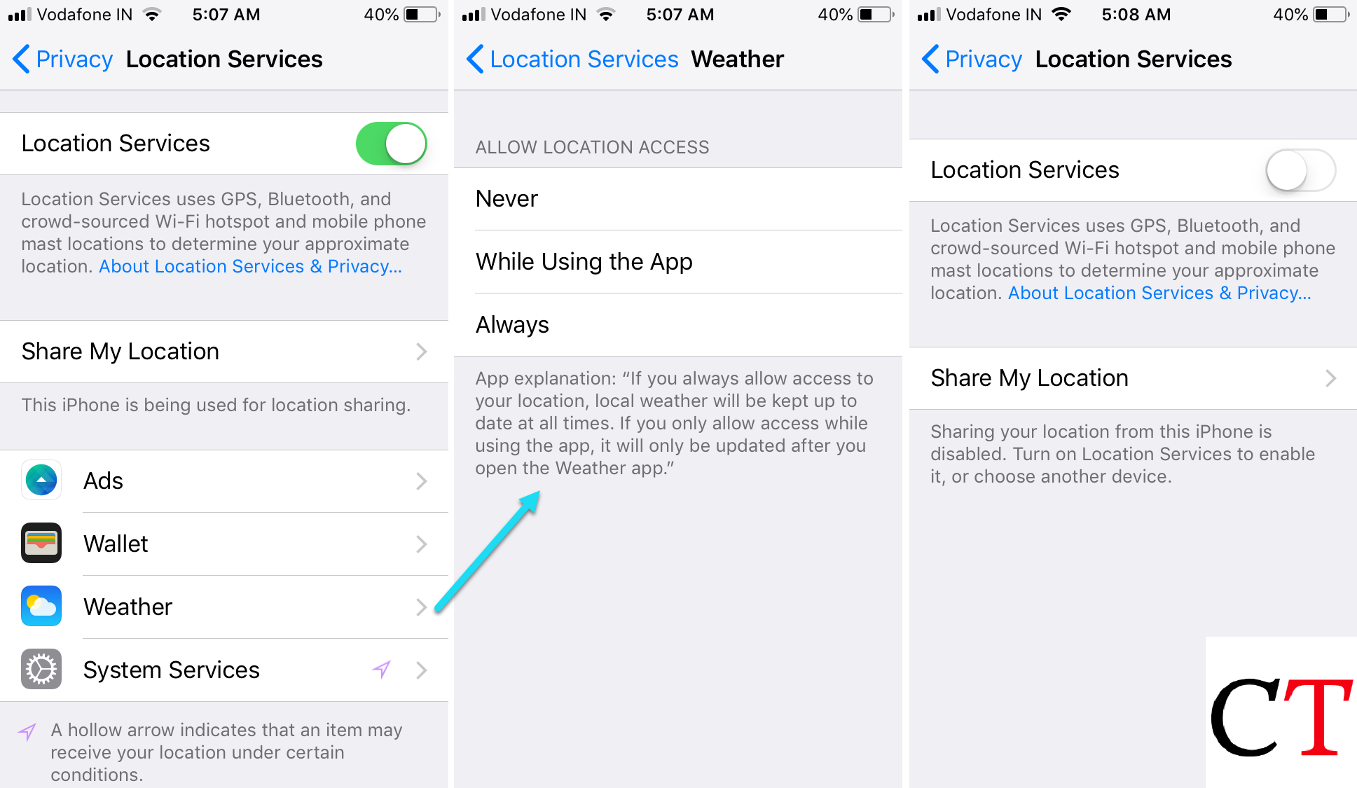 How to turn off location access for a specific app on iPhone and Android