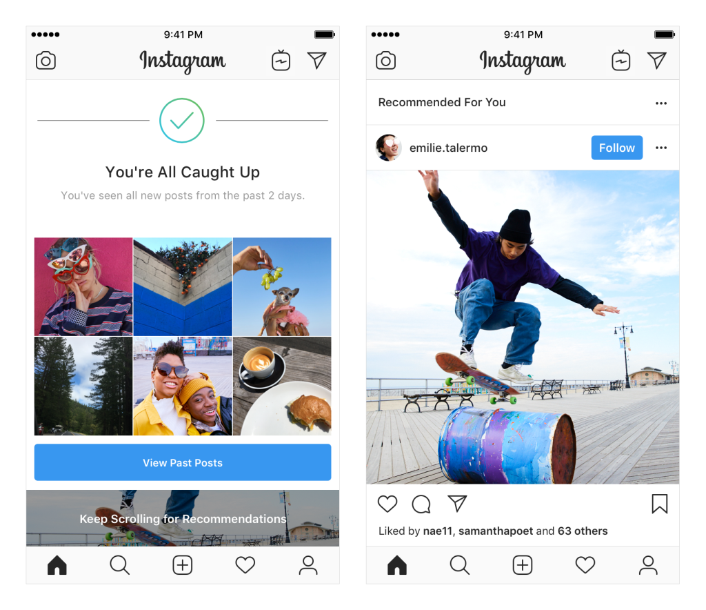 Instagram Recommended Posts in Feed is being tested