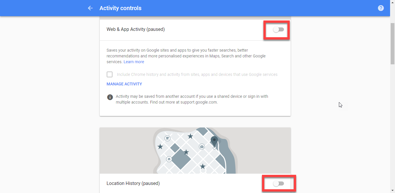 How to stop Google from saving your location data and delete it too