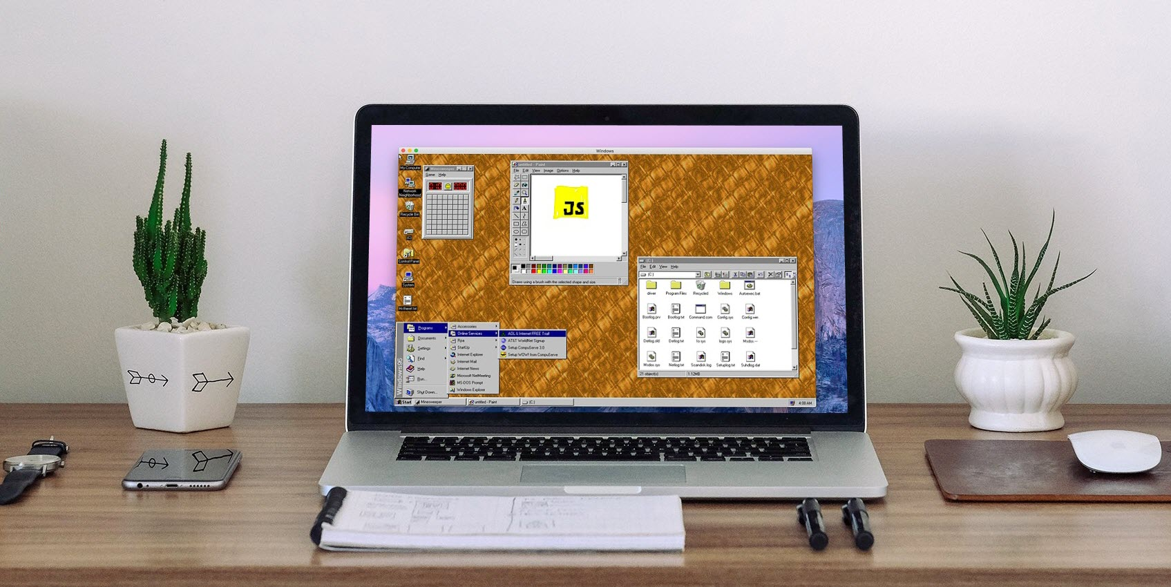 How you can run Windows 95 on Mac, Windows or Linux