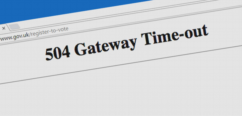 は time と 504 out gateway