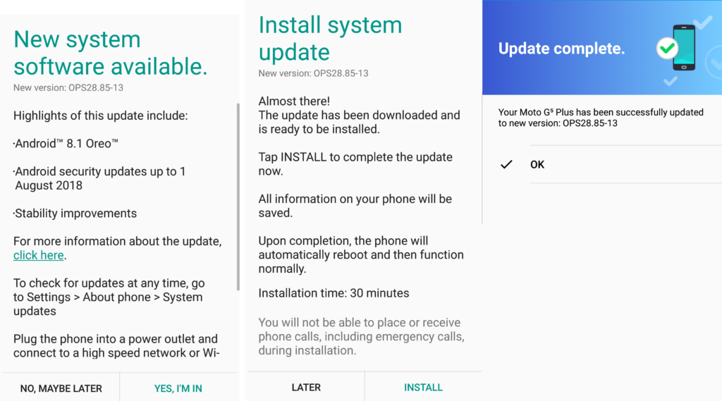 Motorola Moto G5 Plus receives Android 8.1 Oreo 8.1 update