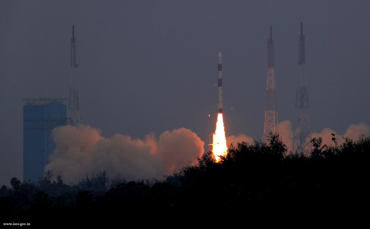 ISRO puts an earth observation satellite into the orbit
