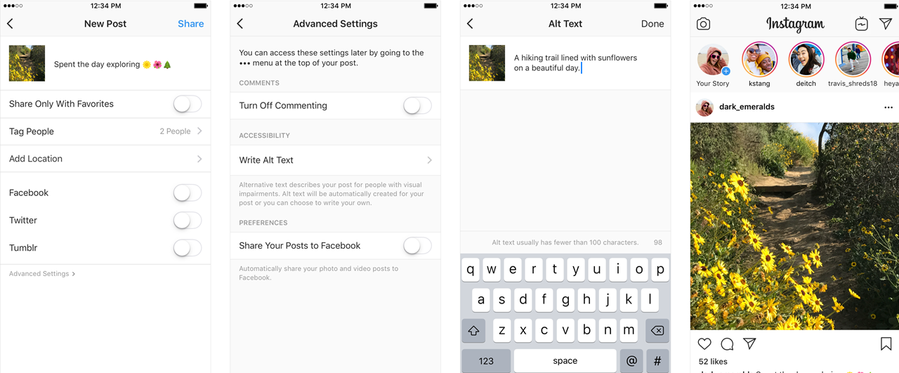 Instagram introduces image description reader in Feed, Explore and Profile