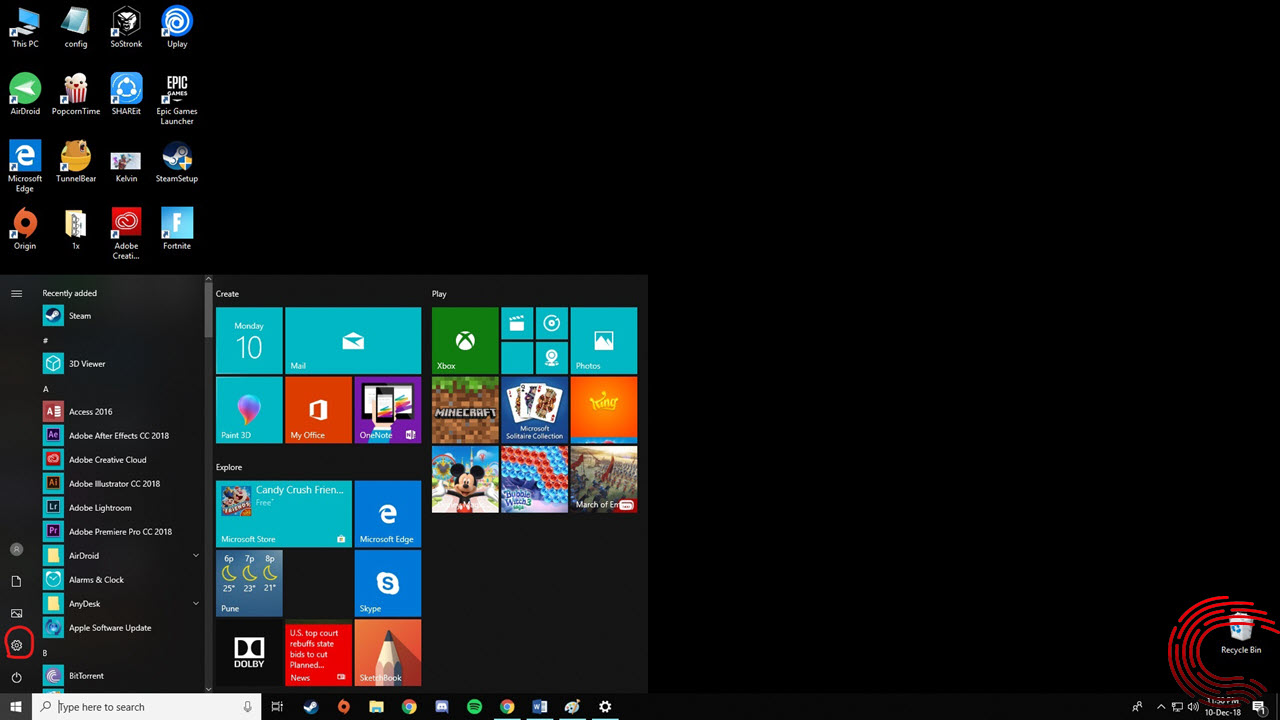 How to change your account picture and password in Windows 10?