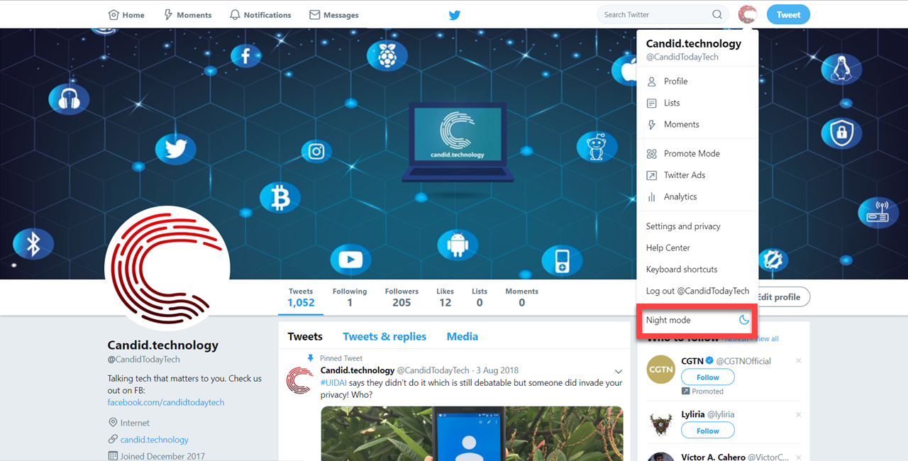 How to activate night mode in Twitter: PC, iOS and Android