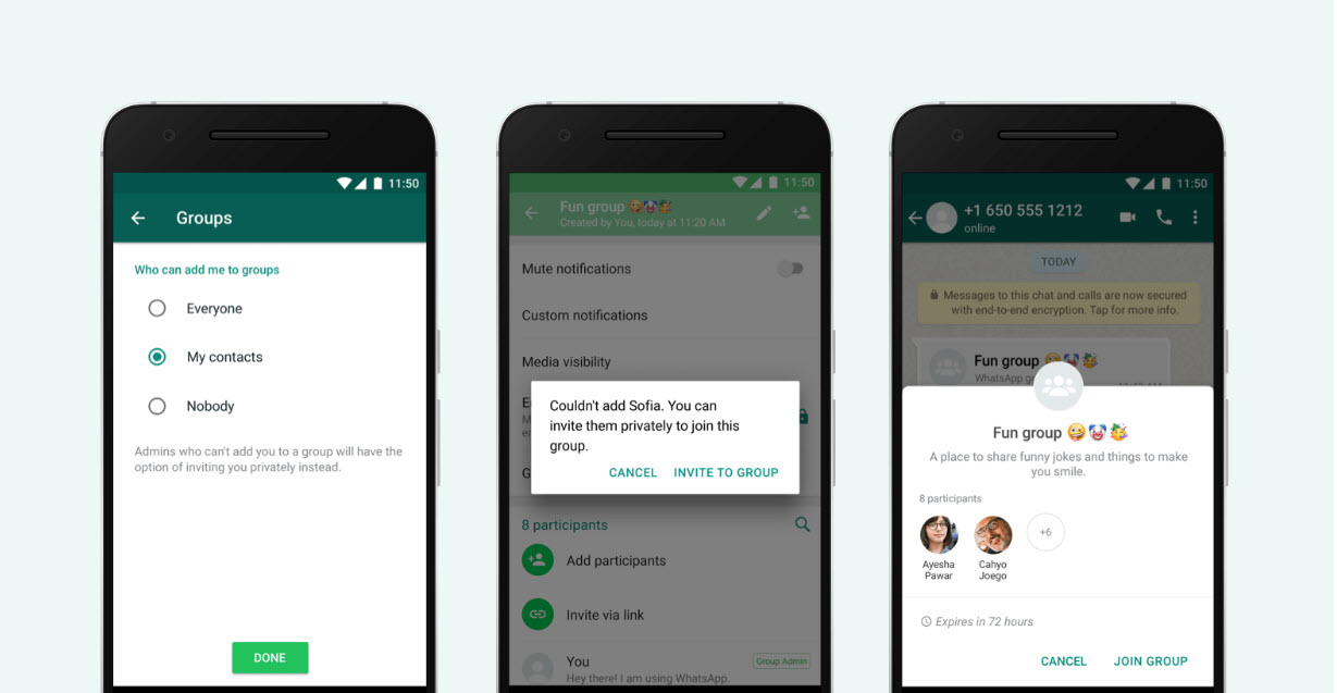 How to enable privacy settings on WhatsApp Groups following the update