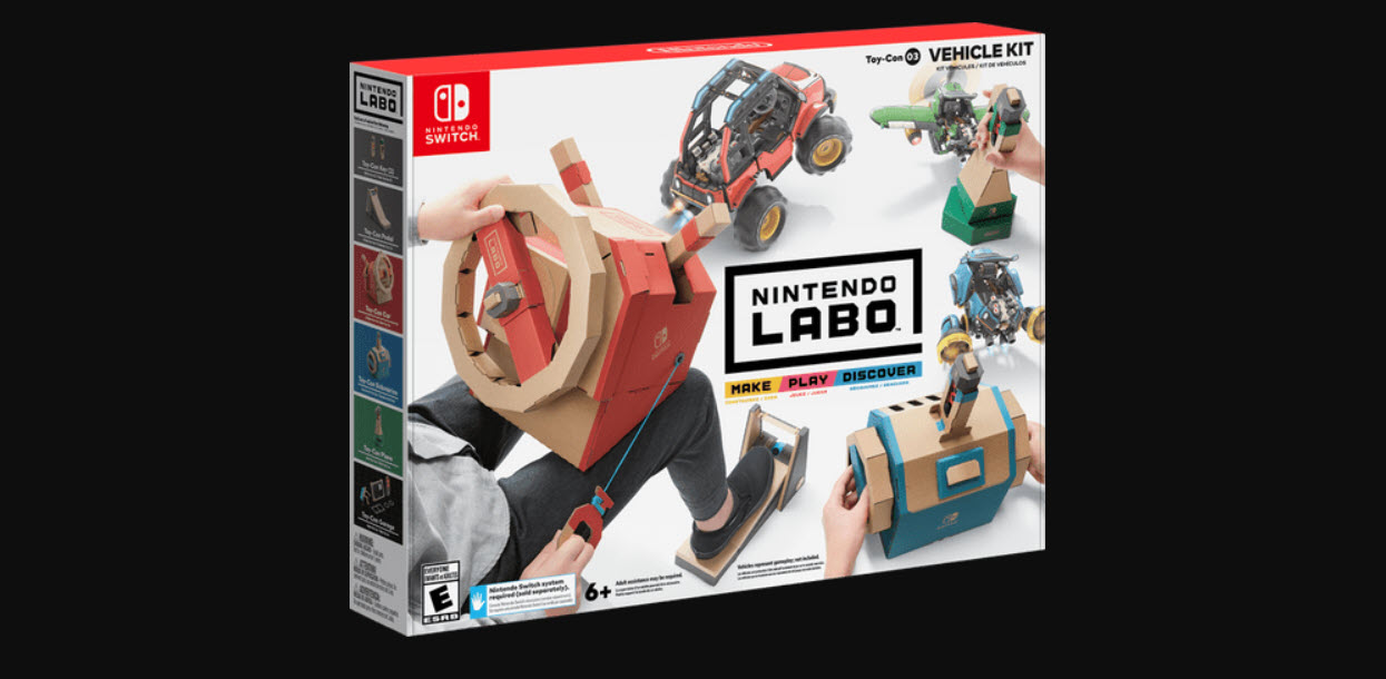 What is the Nintendo Labo? 5 different varieties of Labo for Switch