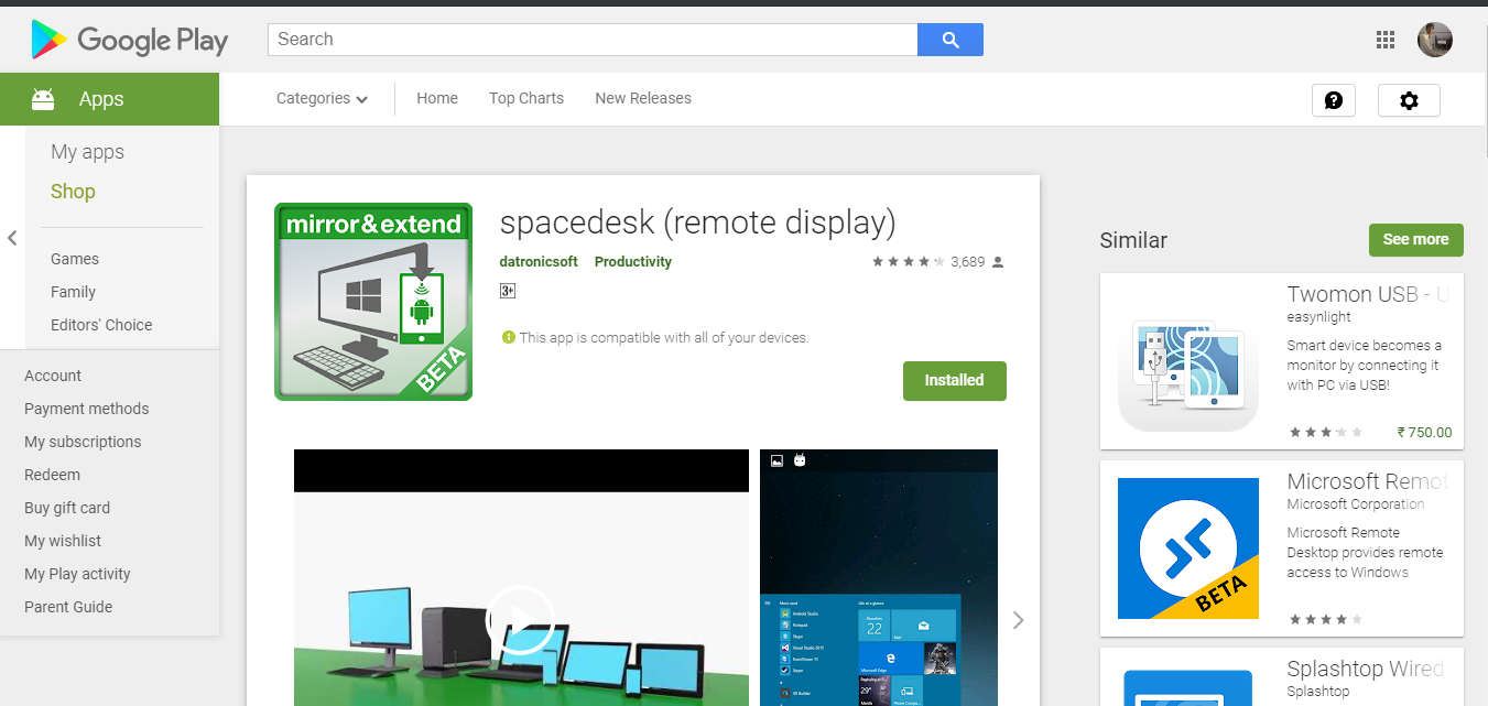 How to use your Android as a secondary monitor for your Windows PC?
