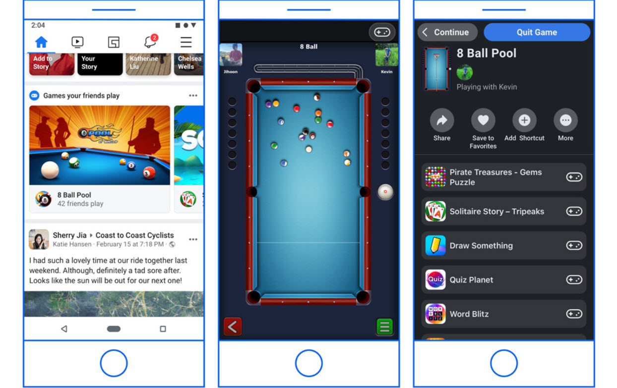 Facebook is moving Instant Games from Messenger to the main app
