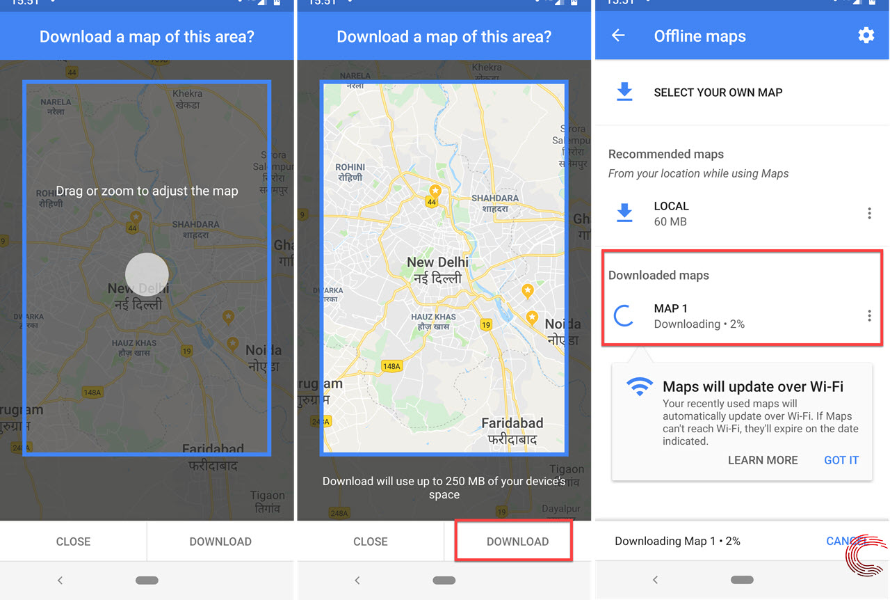 How to download offline Google Maps on Android and iOS? Google Maps Android Download Offline on google sync android, google chrome search, city maps 2go android, google maps android icon, google docs offline android,