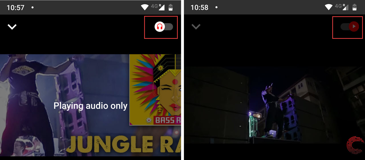 YouTube Music and Premium users get audio-video toggle