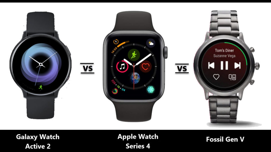 Samsung Galaxy Watch Active 2 Vs Fossil Gen 5 Vs Apple Watch Series 4