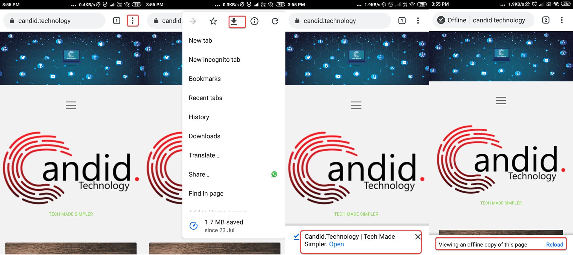 How to save webpage offline in Google Chrome on Android, iOS and PC?