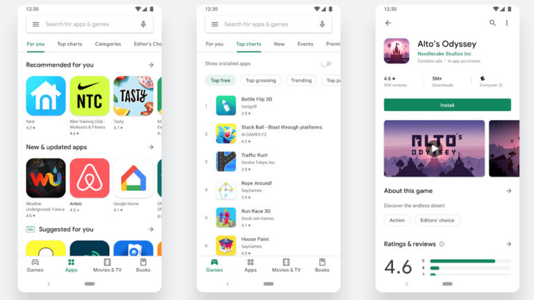 Google rolls out a redesigned Play Store with new navigation and visuals