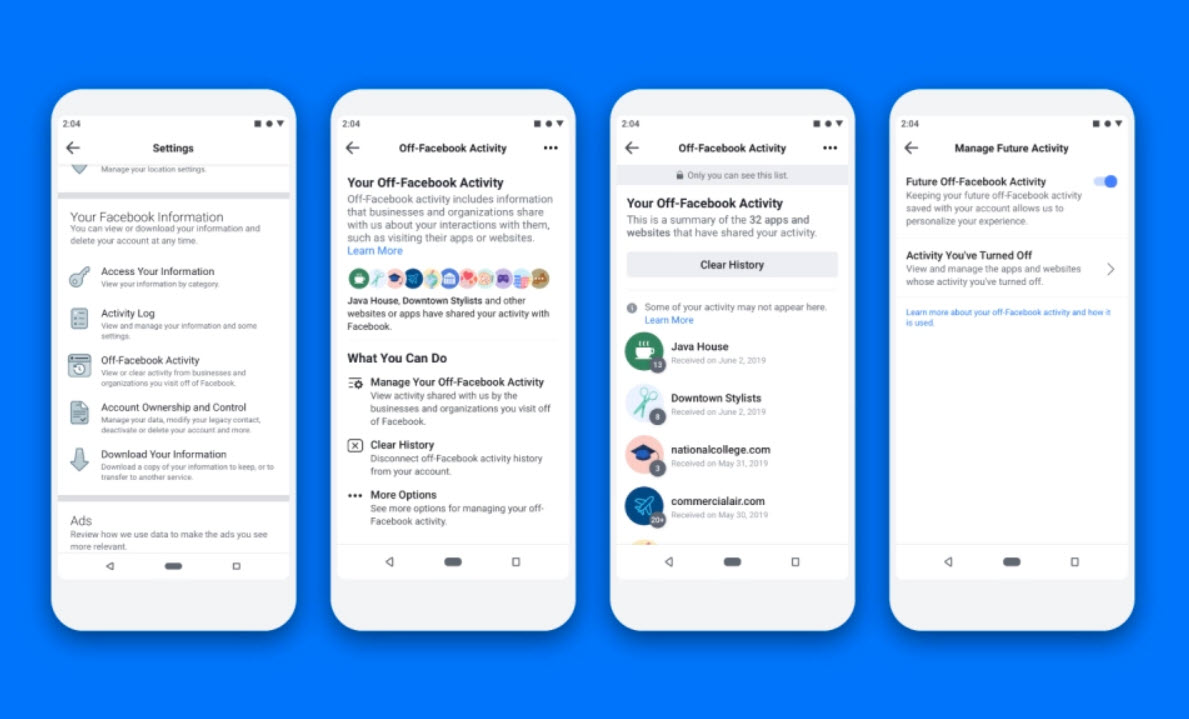 Facebook's new privacy tool doesn't let users control their in-app activity