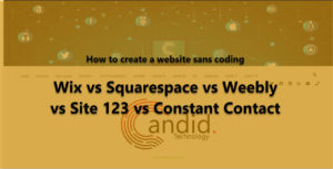 Wix vs Squarespace vs Weebly vs Site123 vs Constant Contact site builder
