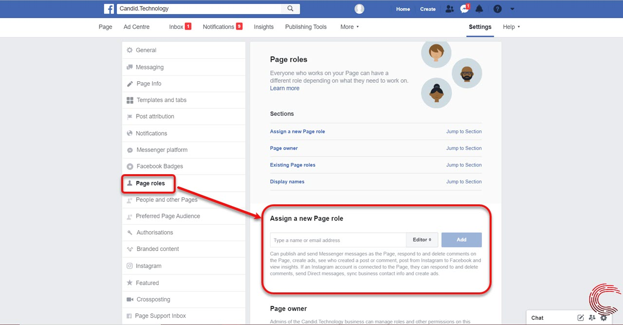 How to add an Admin to Facebook page? Key talking points