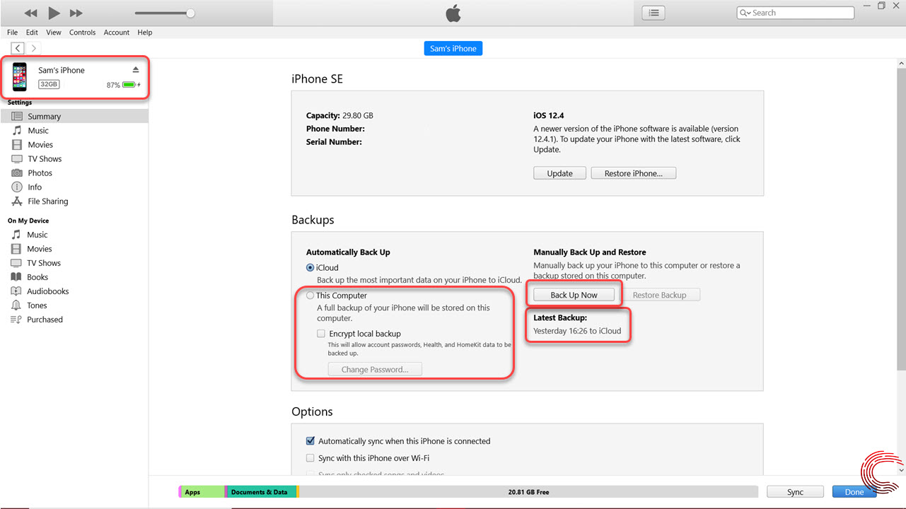How to back up iPhone, iPad and iPod touch? How to encrypt backup?