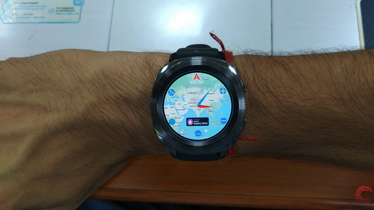 How to use Google Maps on Samsung Galaxy Watch and Gear Sport? Galaxy Maps Google on google lightning map, google classic map, google kingston map, google solar system map, google pluto map, google venus map, google transit map, google sky map, google space map, google jupiter map, google explorer map, google universe map,
