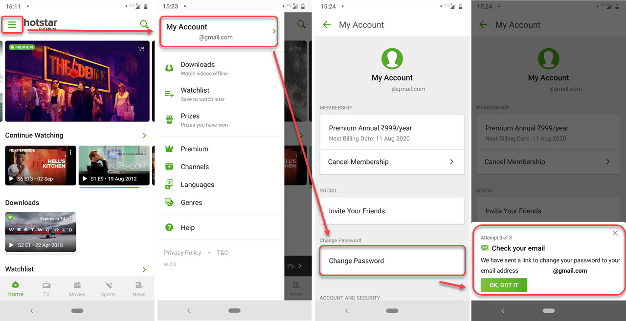 How to change Hotstar password? A guide with 4 simple steps