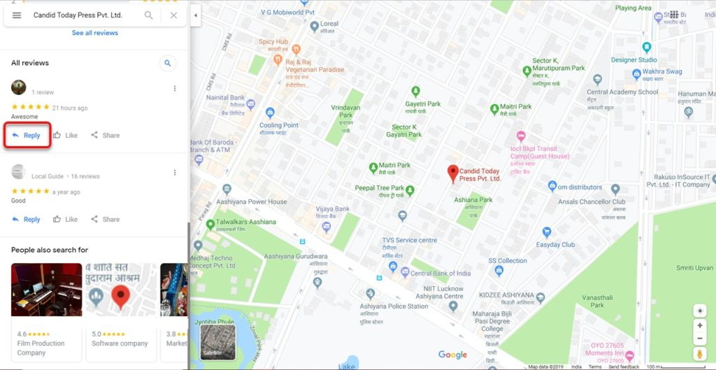 How to respond to Google reviews on PC, Phone via Search and Maps?