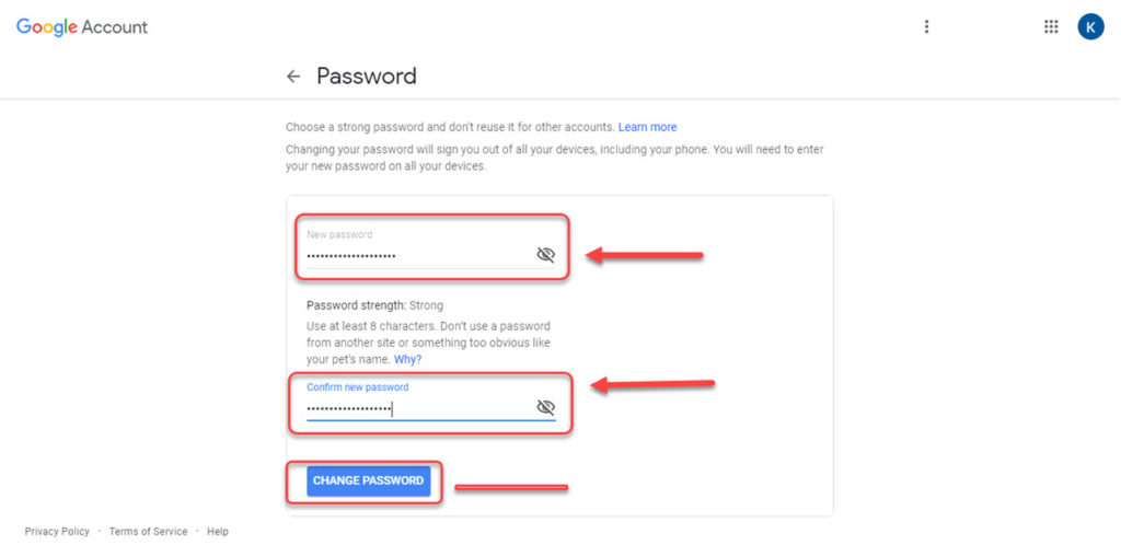 How to change your Gmail password via PC or smartphone?