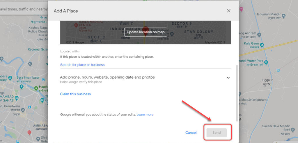 How to add location in Google Maps?   Candid.Technology