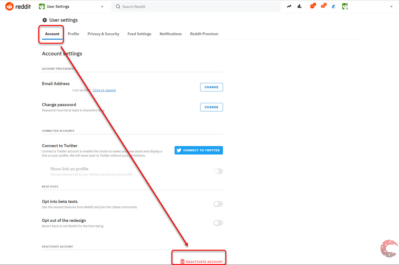How to deactivate or delete your Reddit account? | Candid.Technology