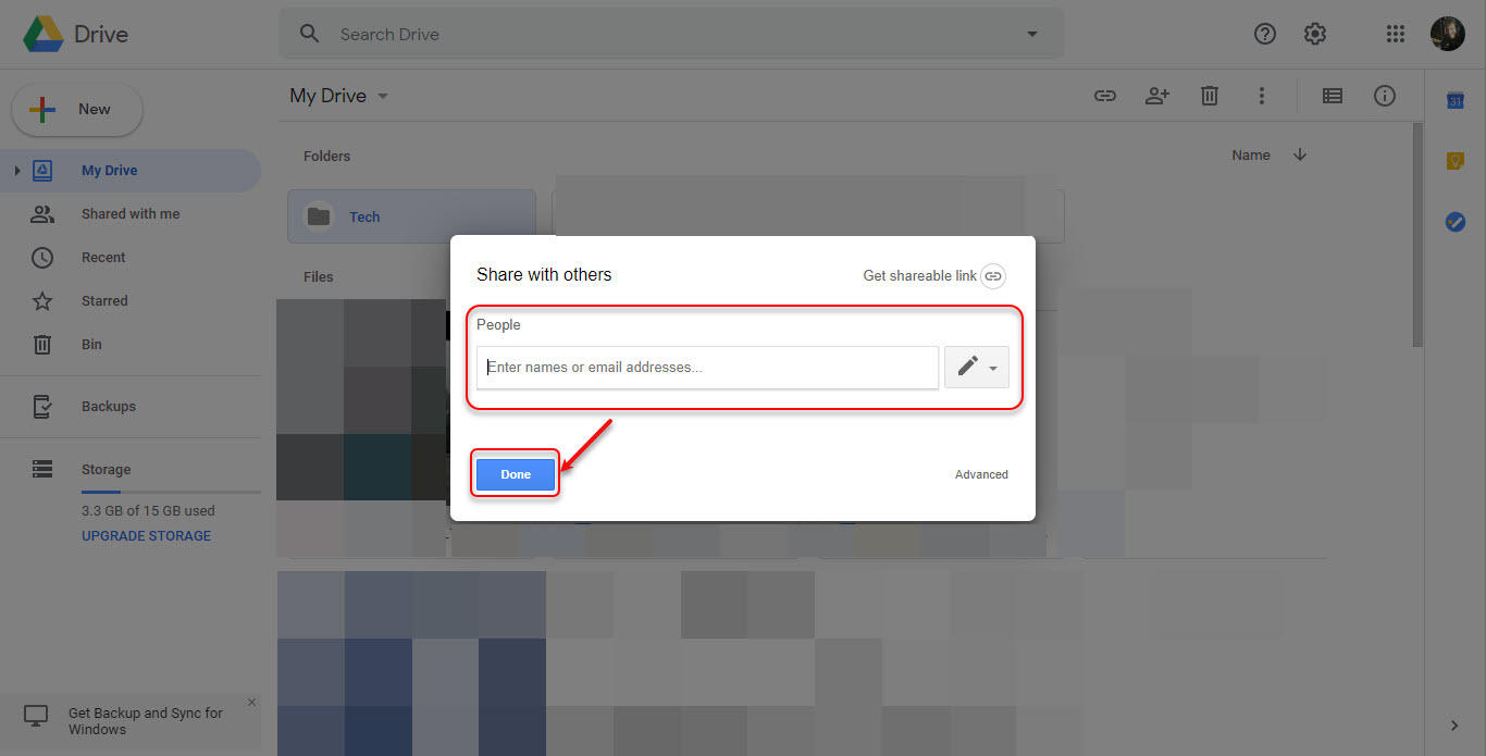 How to share folders on Google Drive? Guide for Android app and PC