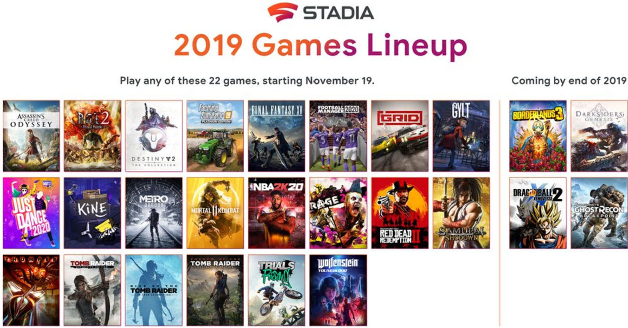 Google Stadia launches with 22 titles: List of countries where it's available