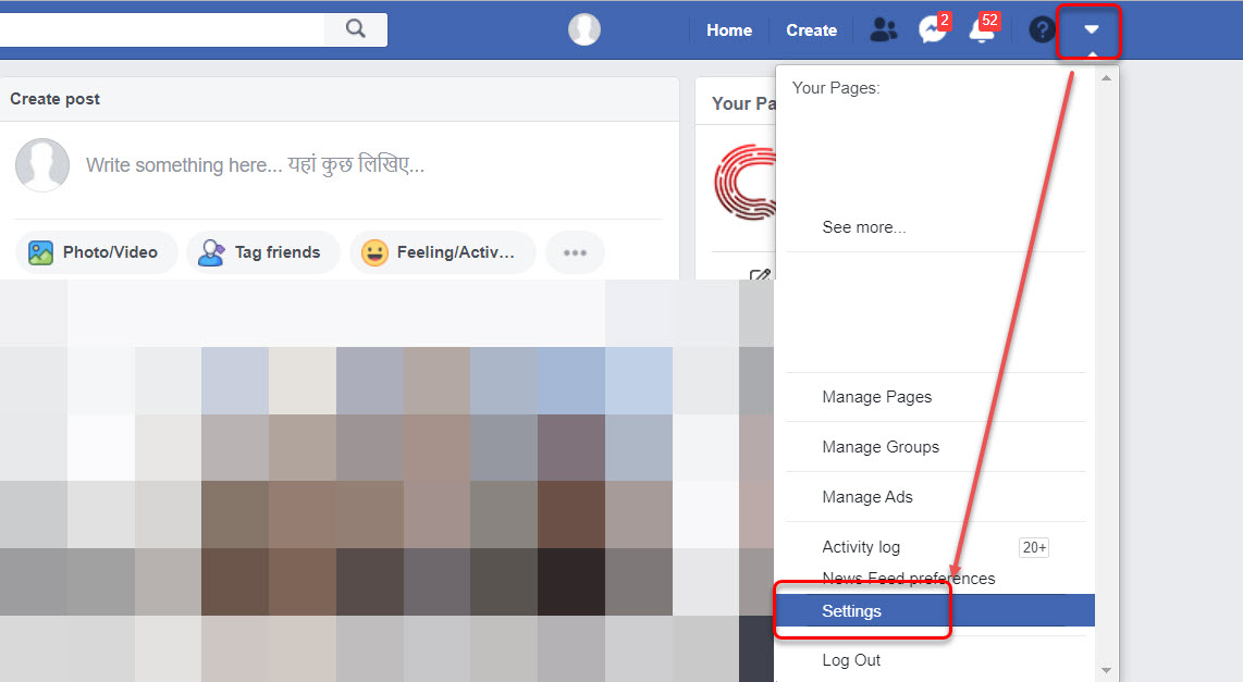 How to change your name and password on Facebook?