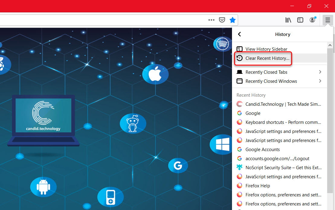 How to delete browsing history in Firefox? On PC, Android and iOS