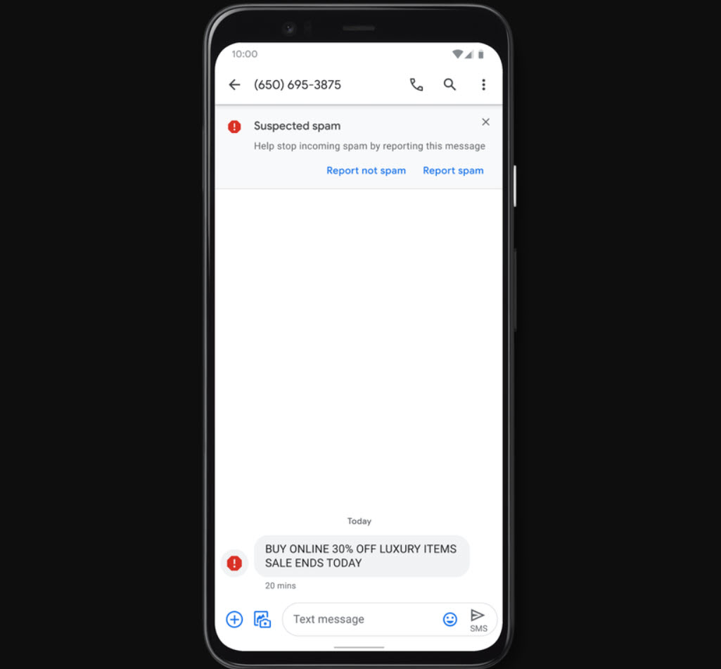 Google rolls out Verified SMS and Spam protection for Android