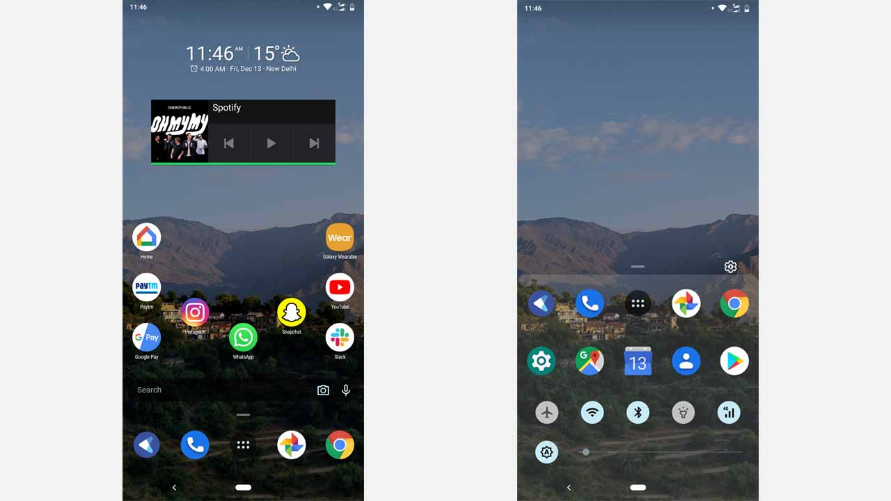 Here are the home screen and the app drawer. As you can see, it's much better looking as compared to my stock launcher