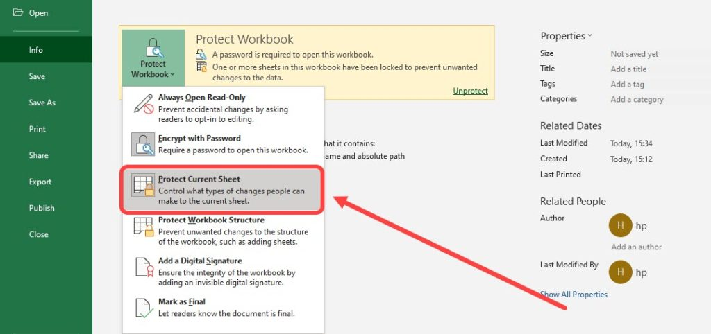 How to set and remove password in Microsoft Excel?