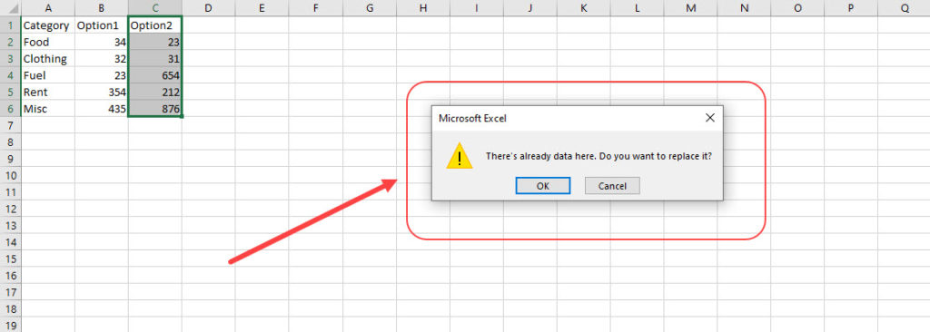 How to move or copy cells, rows and columns in Excel?