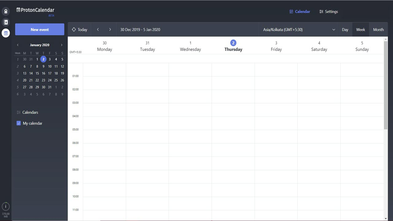 ProtonMail released encrypted calendar: How to access it in beta?
