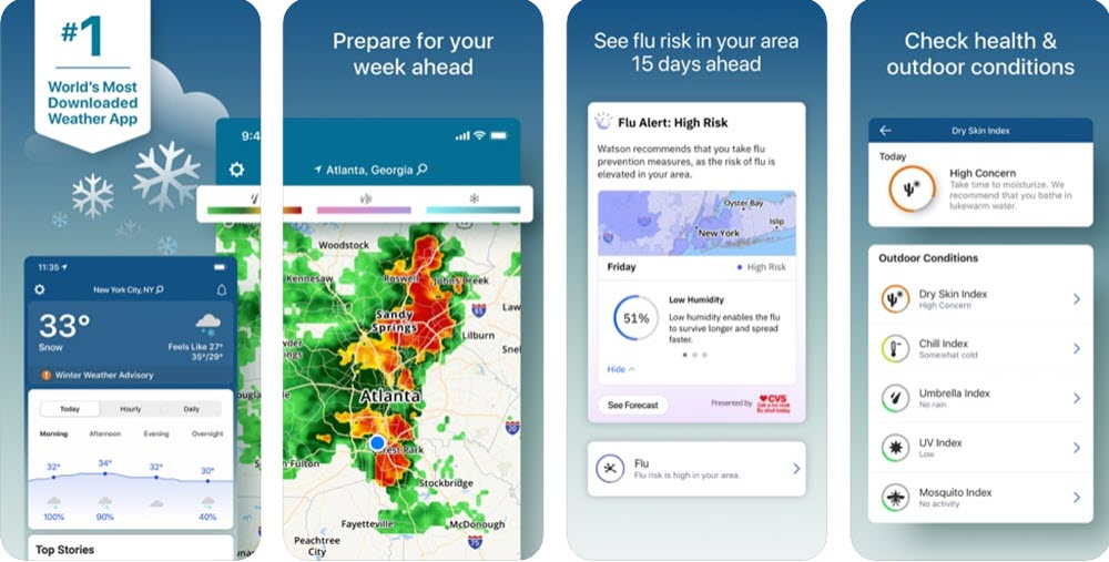 Top 7 weather apps for iOS to keep you updated on-the-go
