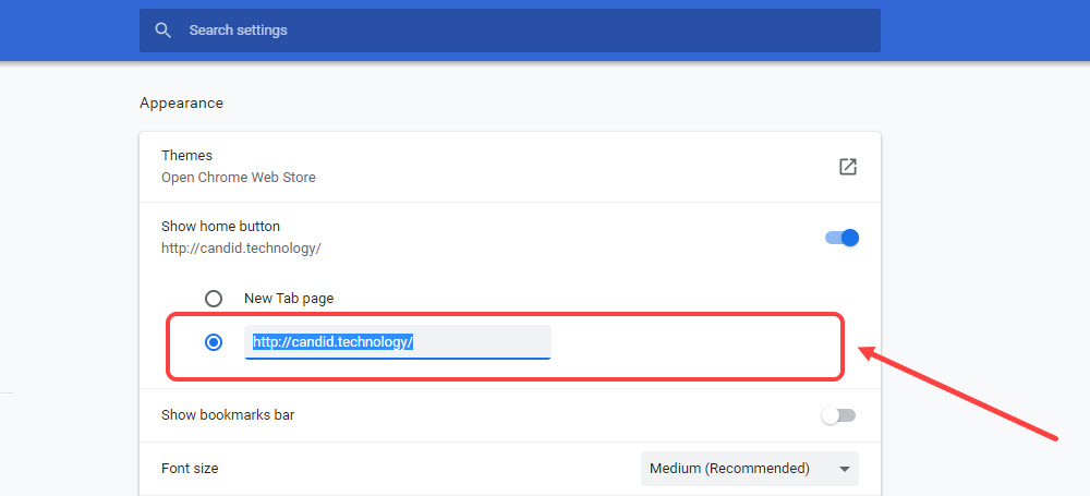 How to change homepage on Google Chrome? | Candid.Technology