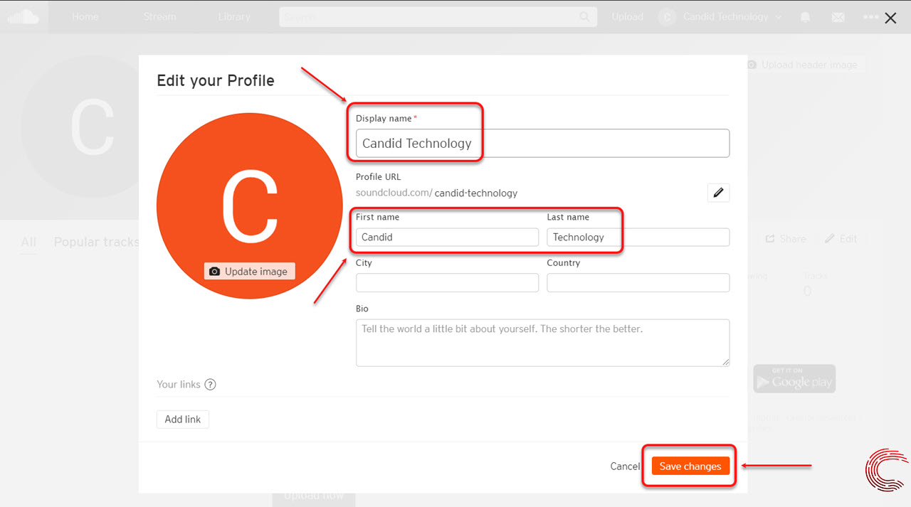 How to change your SoundCloud name and username?
