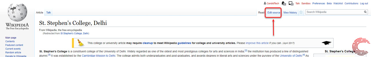 How to edit a Wikipedia page? Via the website and app