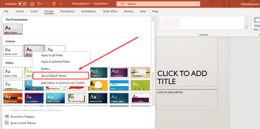 How to change slide size in Microsoft Powerpoint?