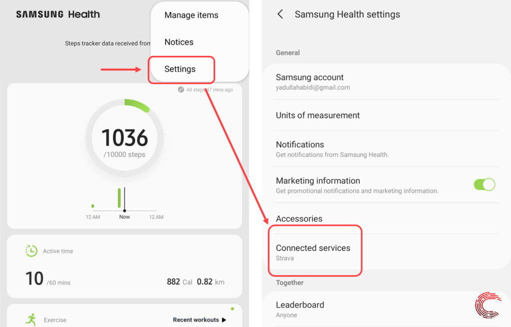 How to sync data between Samsung Health and Strava?