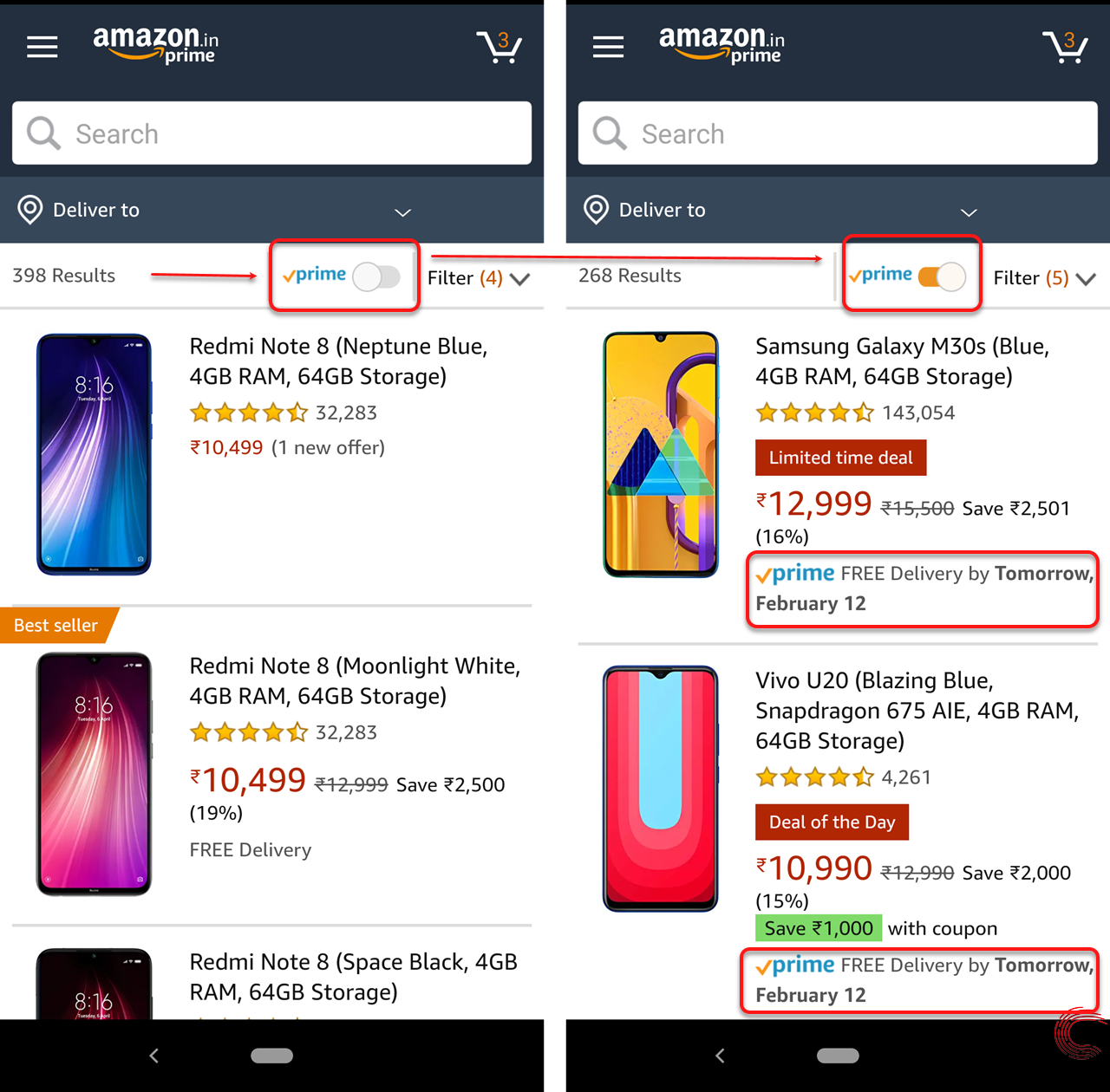 How to search Amazon Prime? Via the app and website