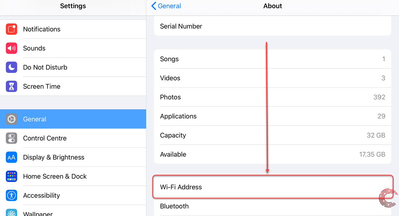 How to find the MAC address on iPhone and iPad?