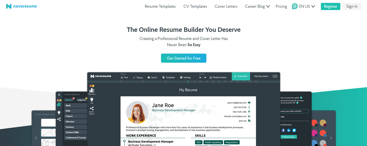 Novoresume Free Resume Builder 4 Candid Technology