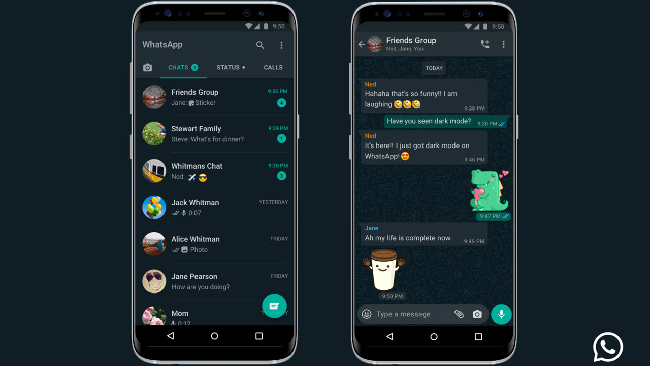 Dark mode comes to WhatsApp for Android and iOS