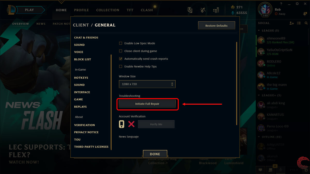 How to repair League of Legends? In 2 simple steps