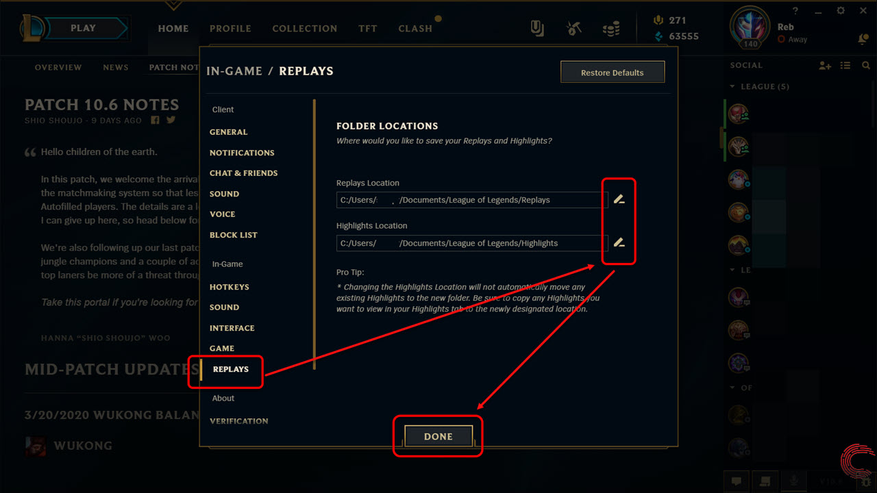 How to watch League of Legends (LOL) replays?